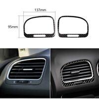 2Pcs Carbon Fiber Side Air Vent Outlet Trim Cover For VW Golf 6 MK6 GTI 2008-12