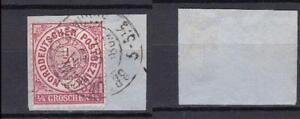 "NDB 13, 1/4 Gr. auf Briefstueck Stempel ""BRAUNSCHWEIG"" #d568"