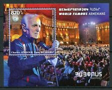 Armenia 2018 MNH Charles Aznavour Singer 1v M/S Music Famous People Stamps