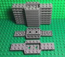 Lego X10 New Bulk Lot City Vehicle / Dark Bluish Gray Race Car Base 4x12x0.667