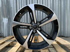 One AU8 18X8 5X112 +35 66.6 (BLACK MACHINED FACE) Wheel For Audi