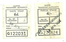 6D 4/- ULSTER TRANSPORT AUTHORITY PARCEL STAMPS LONDONDERRY 1962