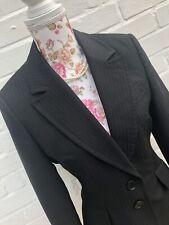 Karen Millen Black Suit Jacket Blazer Pure Wool Formal Size UK 12 EUR 40 US 8