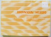 Honda MTX50 1982 #36GE6600 Motorcycle Owner Handbook Multi-lang