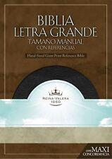 RVR 1960 Biblia Letra Granda Tamaño Manual, negro piel fabricada con &iac