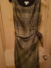 Stunning MONSOON  Gold/Black shift dress UK10 Quality item.  Excellent condition