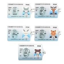 5PC BEASTARS Wolf Legoshi Louis Haru Juno Acrylic Card Cover Keychain Gift