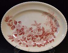 """Johnson Brothers Windsor Ware Apple Blossom Pink Oval Serving Platter 12"""""""