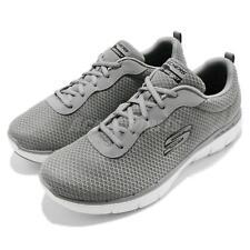 Skechers Flex Advantage 2.0 Dayshow Grey White Men Walking Shoes 52125-GRY