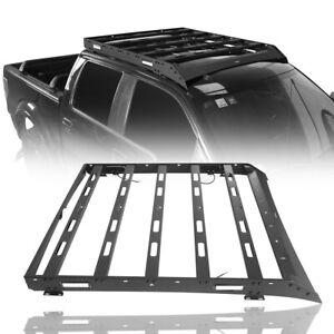 Texture Steel Roof Rack w/ LED Lights For 09-14 Ford Raptor & F150 Super Crew