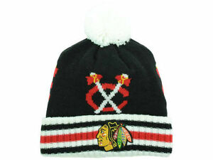 Official NHL 2015 Winter Classic Chicago Blackhawks Goalie Knit Beanie Hat NWT