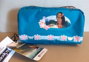 NEW-LeSportsac x Disney MOANA-Rectangular Cosmetic Pouch-Ocean Spirit-Hawaii