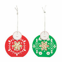 Holiday Ornament Favor Boxes - Party Supplies - 12 Pieces