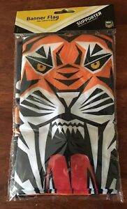 NRL WESTS TIGERS  BANNER FLAG DOUBLE SIDED 132 CM X 20 CM BRAND NEW