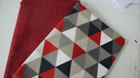 Stoffpaket, Taschenstoff Cord  rot+ Canvas Triangel 2 x 50 x 140 cm