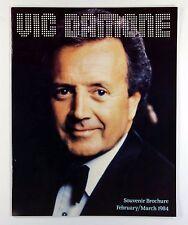 """Vic Damone - 1984 UK Tour Programme 12"""" x 9.5"""""""