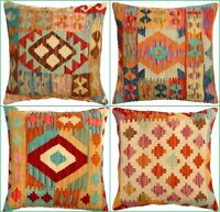Traditional Genuine Kilim Cushion Cover Handmade Fine Quality Turkish Pillows