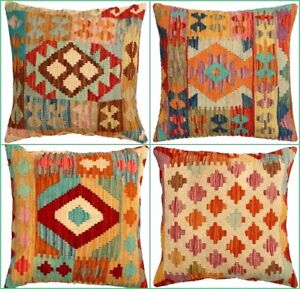 Traditional Unique Kilim Cushion Cover colorful Handmade Turkish Oriental Pillow
