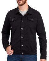 Buffalo David Bitton Mens Black Cotton Denim Jean Jacket NWT $129 Size XXL 2XL