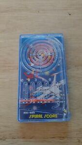 Vintage 1976 Blue Box Mini-Mate Spiral Score Hand-held Pinball Game.