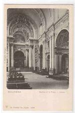 Basilica di S Pietro Peter Interior Bologna Italy 1905c postcard