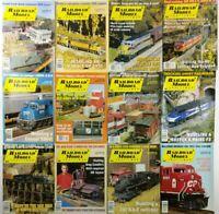 (Lot of 12) 1999 Railroad Model Craftsman Magazines