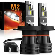 2X AUXITO H4 9003 HB2 LED Headlight Bulb Kit High Low Beam Super Bright 12000LM