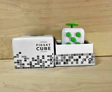New White & Green  Full Fidget Cube 6 side anxiety stress attention relief toy