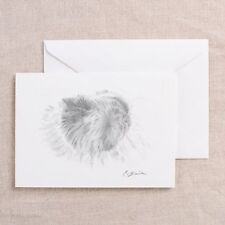 Himalayan Cat Pencil Drawing Art Greeting Card Blank Note Card Persian Cat