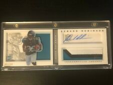 2013 Panini Playbook Denard Robinson RC Rookie Auto Relic Booklet 098/199
