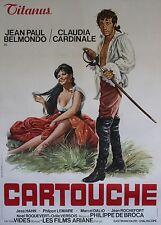 """CARTOUCHE"" Affiche orig. entoil. Italie (Jean-Paul BELMONDO, Claudia CARDINALE)"
