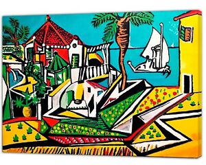 Pablo Picasso Mediterranean Abstract Reproduction Print OnFramed Canvas Wall Art