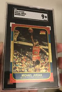 1996 Fleer Brushed Gold Michael Jordan SGC 9 Chicago Bulls Rookie RP