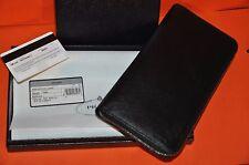 Authentic New Men's PRADA Black Saffiano Leather Document Holder