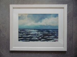 Winter Morning, St Ives. Seascape Oil by Michael Quirke Listed.
