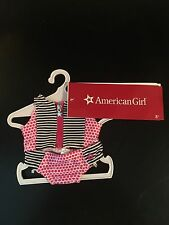 American Girl Doll Truly Me Stripes & Dots Swimsuit new with tags