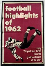 FOOTBALL HIGHLIGHTS OF 1962 Movie Poster (VeryGood) One Sheet NFL Action 4025