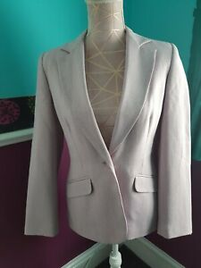 Ladies purple New Look Suit Jacket And Trousers Size 12