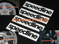 "4x 4"" 10.16cm Speedline Decal Sticker wheel alloy rim spoke Italy WRC ferrari"