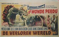 """""""LE MONDE PERDU (THE LOST WORLD)"""" Affiche belge originale entoilée (Conan DOYLE)"""