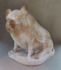 ANTIQUE AMERICAN FOLK ART HOG PIG CHALKWARE MIDWEST ORIGIN OINK FARMER COUNTRY