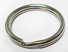 "Sale Lot 100 Key Rings 28mm 1 1/8"" Split Ring Silver Spring-Tempered Top Quality"