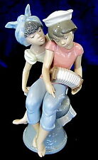 LLADRO #6144 CARIBBEAN KISS BNIB GIRL BOY SALIOR ACCORDION LOVE RARE $225 OFF FS