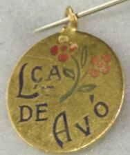 Tiny 18K 19K Portuguese Baptism Enaml Charm L Ca De Avo Grandmother