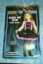 GIRLS TODDLER 1T/2T BLACK CAT CUTIE COSTUME TUTU PINK KITTEN PARTY DRESS woman