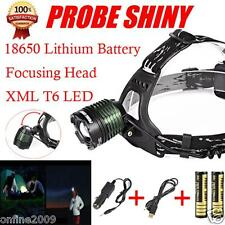 PROBE SHINY 5000Lm Rechargable CREE XML T6 LED Flashlight Headlamp Head light