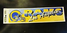 "NFL Los Angeles Rams Vintage Bumper Sticker Old New Stock 11"" New Official"