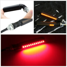 2 x Dual Color 24LED Motorcycle 2in1 Brake Storbe Lamp Flowing Turn Signal Light