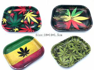 1 × Rolling Tray Size 180*140*15mm Metal Tray Handor for Smoking Accessory