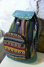Rucksack Backpack Gringo Fair Trade Foldable Aztec Hippie Gheri Festival Student